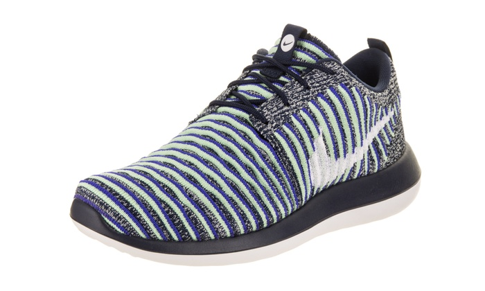 designer fashion 22b48 525aa Nike Women s Roshe Two Flyknit Running Shoe Medium 7 Women US College  Navy White White Binary Blue