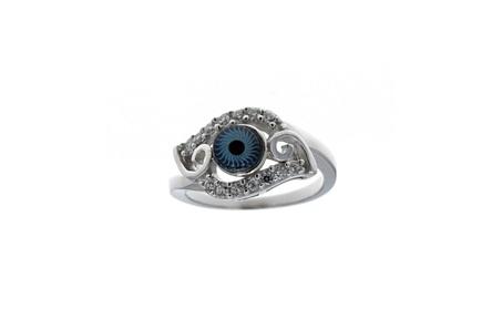 Evil Eye, Silver And Cubic Zirconia Evil Eye Ring 6e7833fb-3f01-4648-8d33-7db262460add