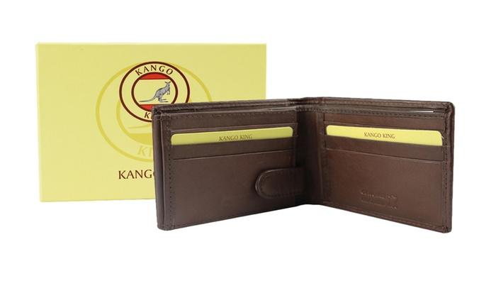 Real Leather Men's Bifold Credit Card Purse Holder Wallet