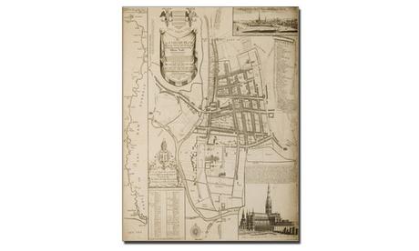 William Nash 'Map of Salisbury 1751' Canvas Art 52c5259c-dab9-47a9-9cc2-0a4789488333