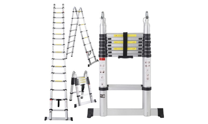 16.5FT Aluminum Telescoping Telescopic Extension Ladder Tall Multi Pur