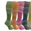 Yacht&Smith 6 Pairs Womens Tie Dye Wool Socks, Funky Colors for Winter