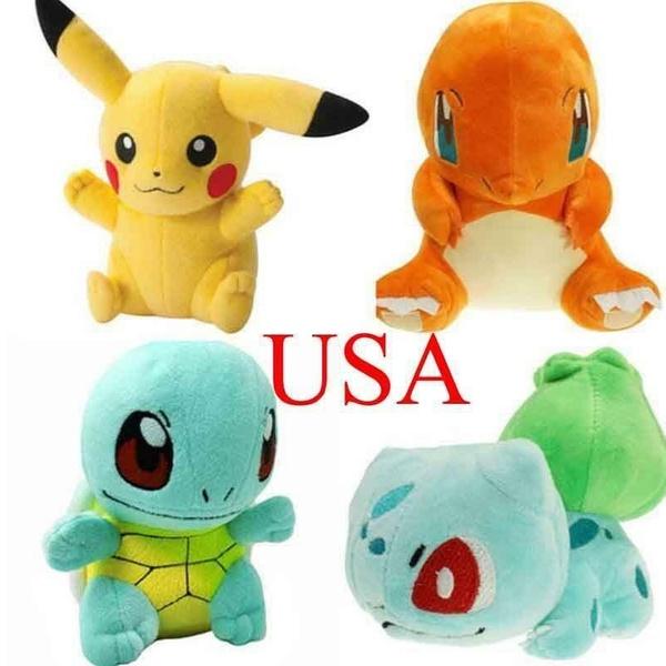 Pokemon Pikachu Bulbasaur Squirtle Charmander plush soft Toys-UK stock!!!