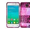 Insten Skins Hard Case For Alcatel One Touch Pop Star 4g Hpink/black