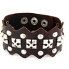 Brown Leather and Silver Stud Bracelet