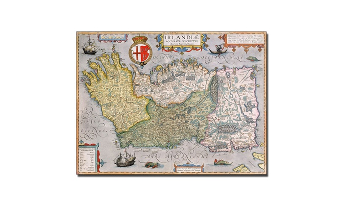Map of ireland canvas art groupon groupon goods map of ireland canvas art gumiabroncs Choice Image