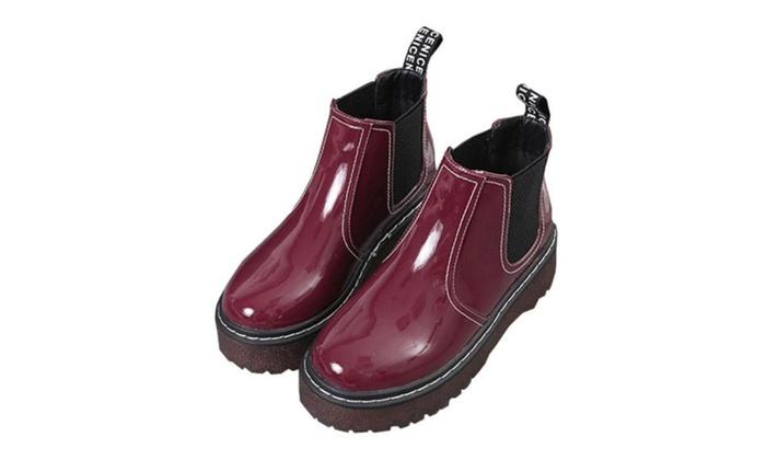 Women's Simple Slip on Martin Boots