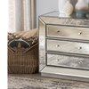 Edeline Glamour Style Mirrored 3-Drawer Chest