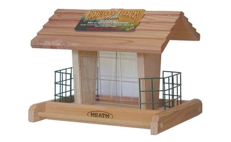 Classic Seed Bird Feeder Redwood Hanging Style Holds 3 LBS Two Suet 8070f937-056c-455c-98b1-6e6bc5f9e346
