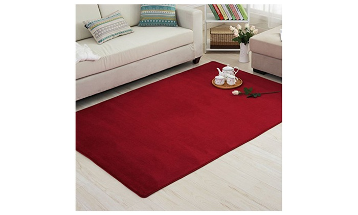 Livingroom Carpet Coral Fleece Soft Rug Memory Foam Rugs Set ...