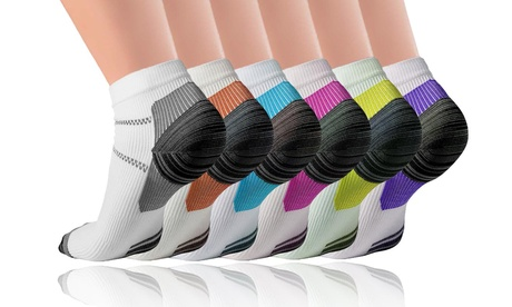 Unisex Plantar Fasciitis Compression Socks (3-Pairs or 6-Pairs)