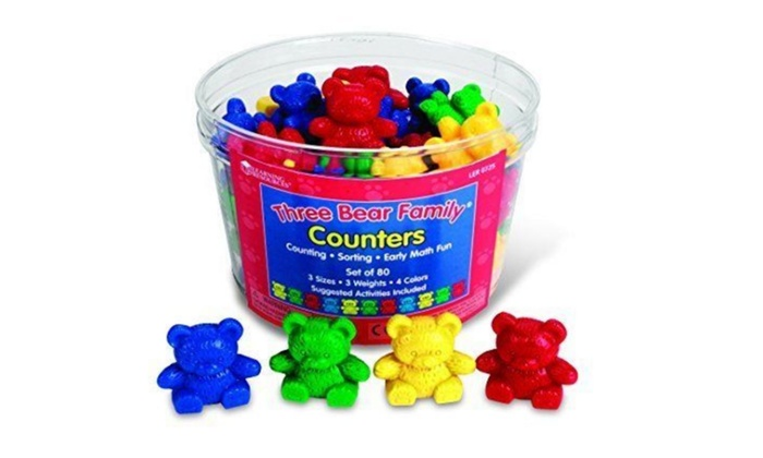 New Learning Resources LER0725 Three Bear Family Counters Free Ship