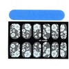 Zodaca Exotic White 3D Lace Nail Art Manicure Tips Sticker Decal DIY
