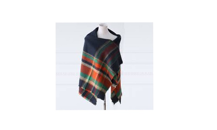 Multi Color Plaid Blanket Scarf/Shawl For The Winter