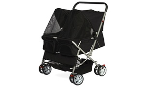 4-Wheel Twin Double Pet Stroller For Dogs and Cats