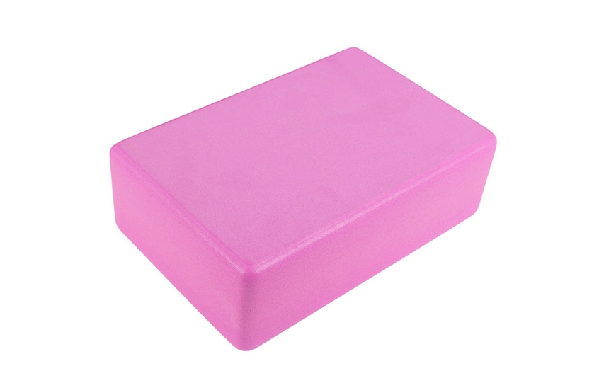 JIM/'S STORE 2pcs Yoga Blocks and Strap Set High Density EVA Foam Yoga Brick for