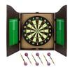 Brybelly Holdings SDRT-201 Walnut Dartboard Cabinet Set with 6 Brass
