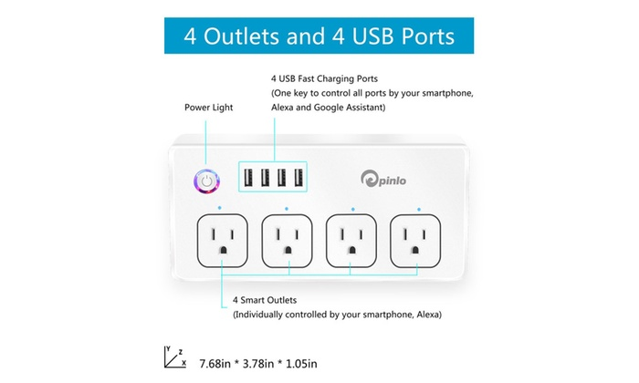 WiFi Smart Plug, Voltson Mini Outlet with Energy Monitoring