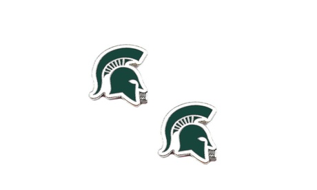 Michigan State Spartans Post Stud Earring NCAA Charm Set 1428e8d5-909c-43ae-8ef5-72e6a09d0188