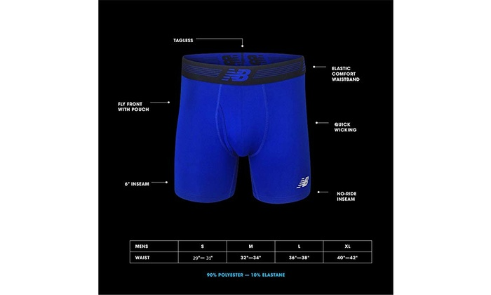 Underwear New Balance Mens Mesh 4 No Fly Boxer 3-Pack