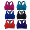 Women 6 Pack Reversible Padded Assorted Color Sports Bras