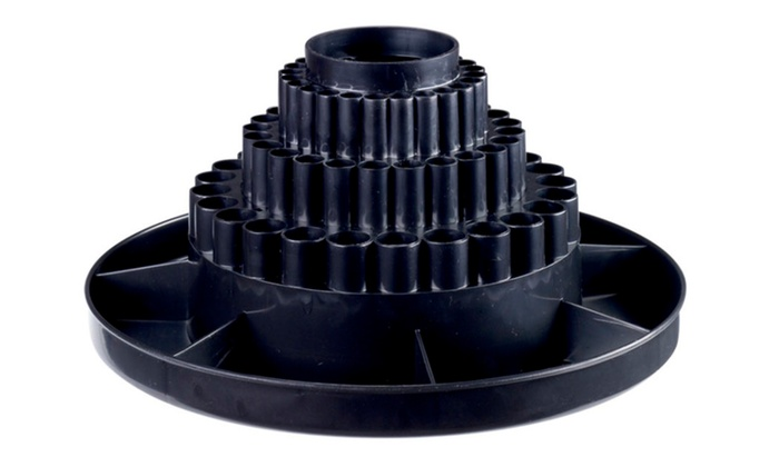 Offex 3 Tier Plastic Tabletop Rotating Pen Storage Carousel   Black