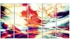 Winds of the World Metal Wall Art 60x28 5 Panels