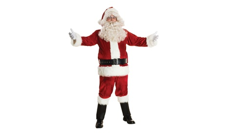 Men's Deluxe Santa Claus Suit Set Costume X-Large Red feb6028c-305e-4554-bdc9-1b27f7d51109