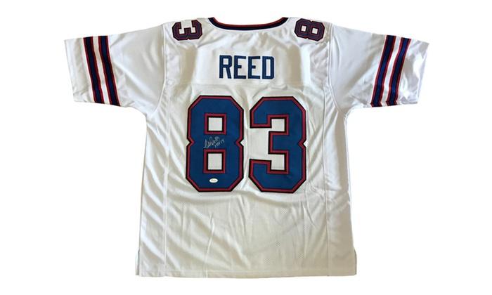a10e33a90eb Autographed Andre Reed Buffalo Bills Custom Jersey White HOF FHS125 ...