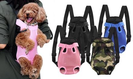 Nylon Mesh Pet Carrier Backpack Adjustable Front Dog Carrier Travel Bag