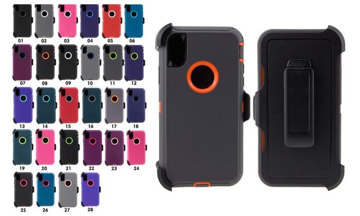 big sale d7b8c f72e6 iPhone X 10 Case Belt Clip Fit Otterbox Defender 3 Layer Bumper ...