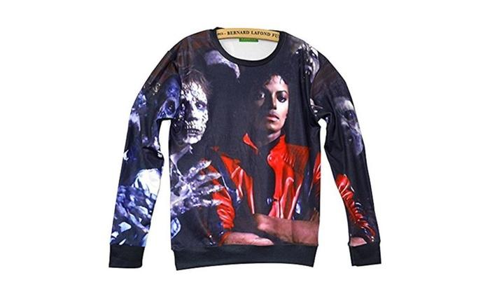 Unisex Swag 3D Sweater Michael Jackson Thriller Sweatshirt T Shirts