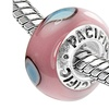 Sterling Silver 'Beauty in the Eye of the Beholder' Murano Glass Bead