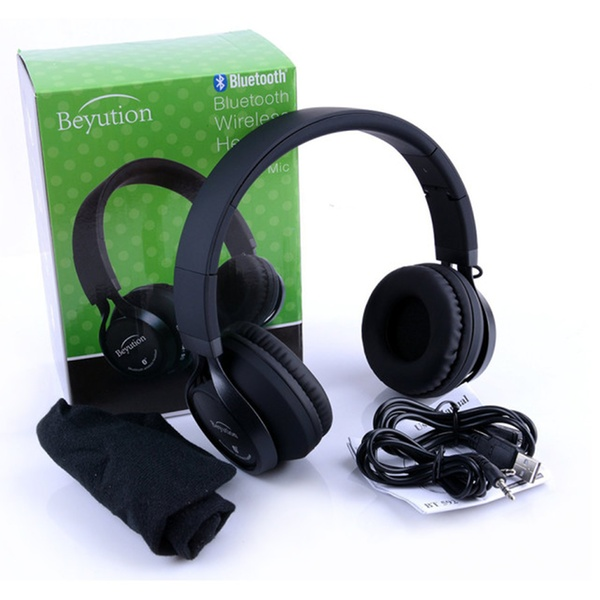 Beyution BT525 Metal Hi-Fi Stereo Wireless Bluetooth Headphones w Mic