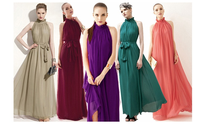 7 colors elegant party long big ham shirt dress sleeveless