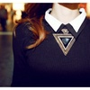 Triangle Pendant Rope Chain Chokers Statement Necklace for Women(45+5)