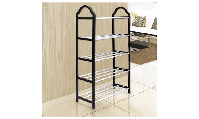 Storage Organizer Standing Shoe Tower Rack Cabinet Tire Space Saving   Black