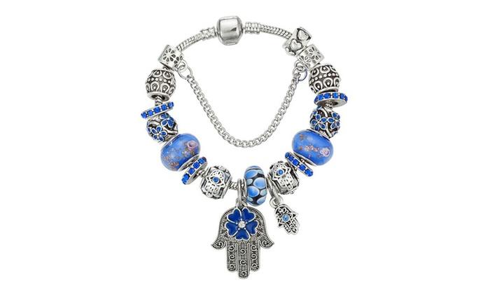 952ef3e6c ... promo code for pandora inspired evil eye protection charm bracelet  8a924 518cd