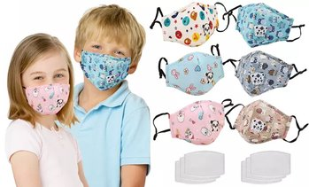 3 Pack Adjust Ear-loop Reusable Kids Face Mask with PM2.5 Filters