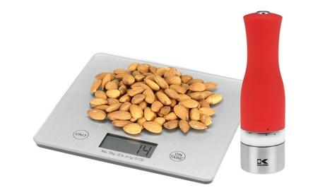 Kalorik XL Silver Digital Kitchen Scale & Stainless Steel Salt Or Pepper Grinder 42b7ef40-3492-4273-96f2-4c38f9a7c55e