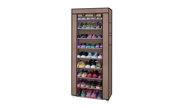 10-Tier Home Nonwoven Vertical Shoe Rack Organizer with Cover