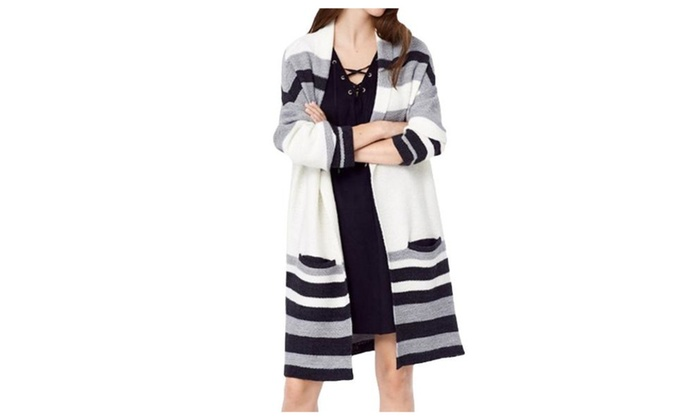 Women's Regular Fit Casual Open Front Straight Hem Cardigan - As Picture / One Size