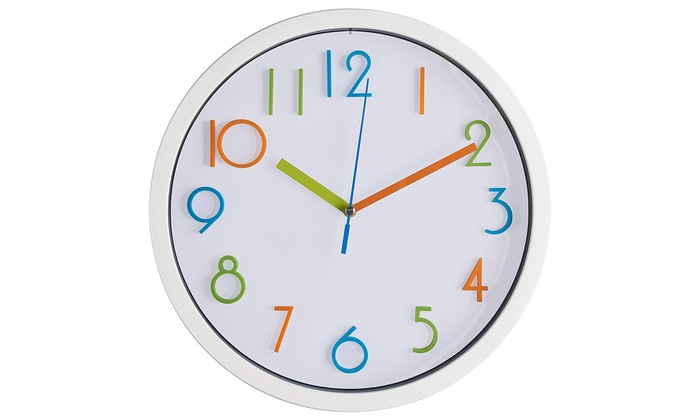 Kids Wall Clock - Non Ticking - Battery Operated