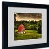 Lois Bryan 'Summer Evening On the Farm' Matted Black Framed Art