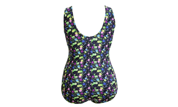 2cacb140f6083 ... Women s Sheer Mesh Insert Stunning Printed Plus Size Monokini