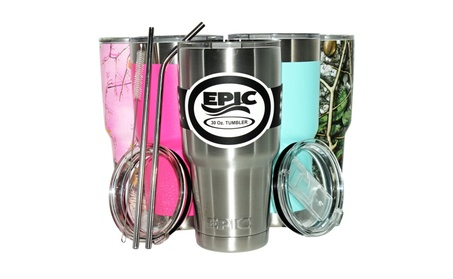 30 oz Stainless Steel Insulated Cold Tumbler 6 Pcs Bundle by Epic ad72a98f-2afd-45f7-b522-be6f7a128250
