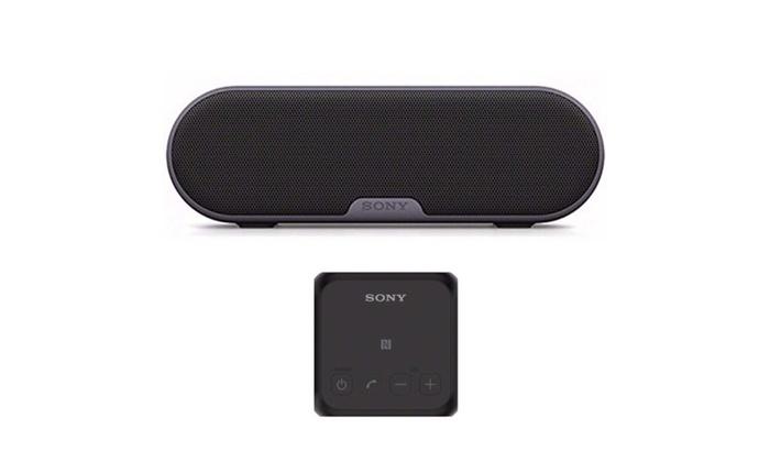 Sony SRSXB2 Ultra-Portable NFC Bluetooth Wireless Speaker Black//Red//White