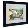 Judy Harris 'English Countryside' Matted Black Framed Art