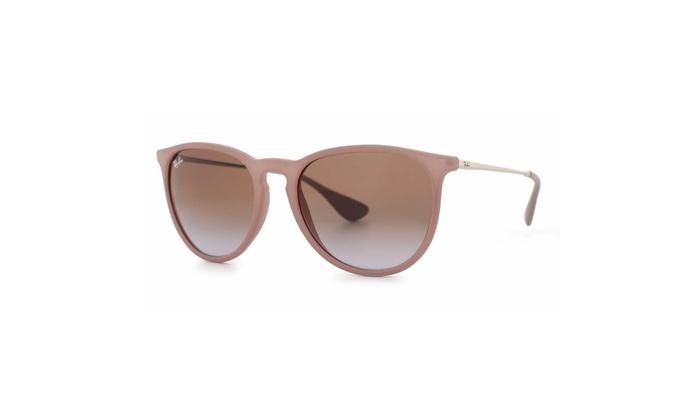 dd672e397bec RayBan Erika Wayfarer Sunglasses (Rubber Sand Frame Brown)
