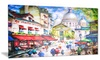 Sacre Coeur and Montmartre Cityscape Metal Wall Art 28x12